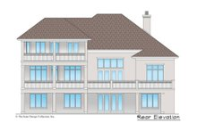 European Exterior - Rear Elevation Plan #930-517