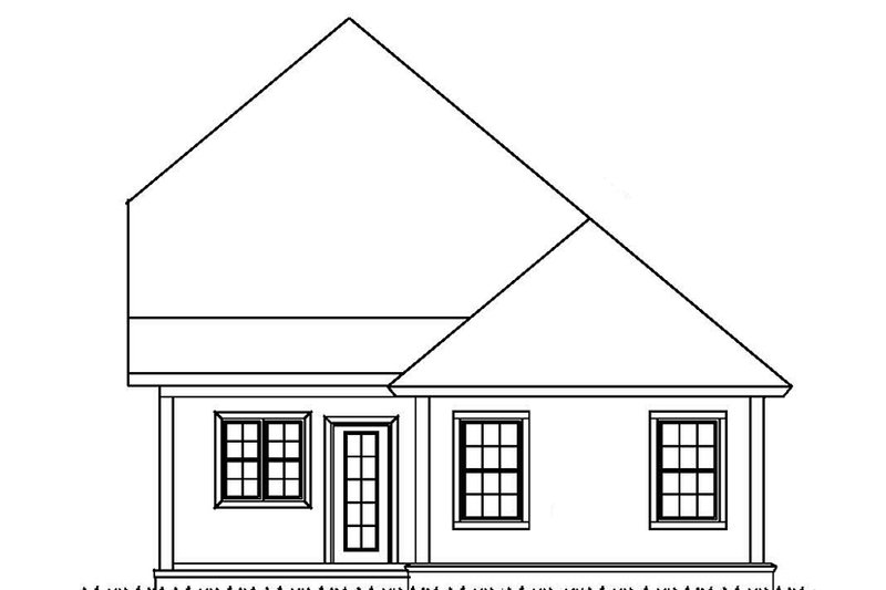 Country Exterior - Rear Elevation Plan #513-2165 - Houseplans.com
