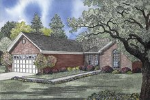 Home Plan - Ranch Exterior - Front Elevation Plan #17-2838