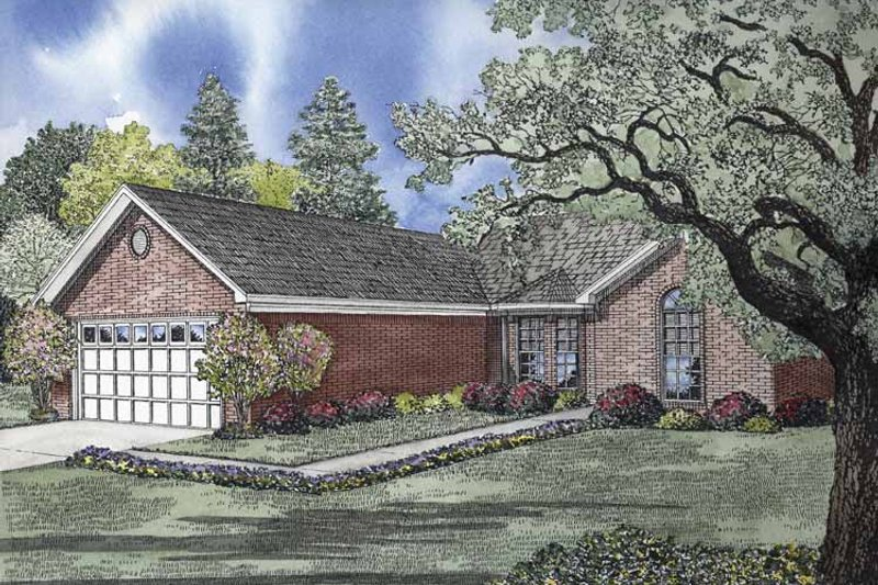 Ranch Exterior - Front Elevation Plan #17-2838