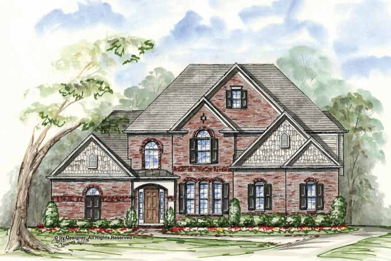 Dream House Plan - Traditional Exterior - Front Elevation Plan #54-323