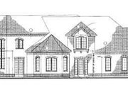 European Style House Plan - 5 Beds 4.5 Baths 4750 Sq/Ft Plan #72-195 Exterior - Rear Elevation
