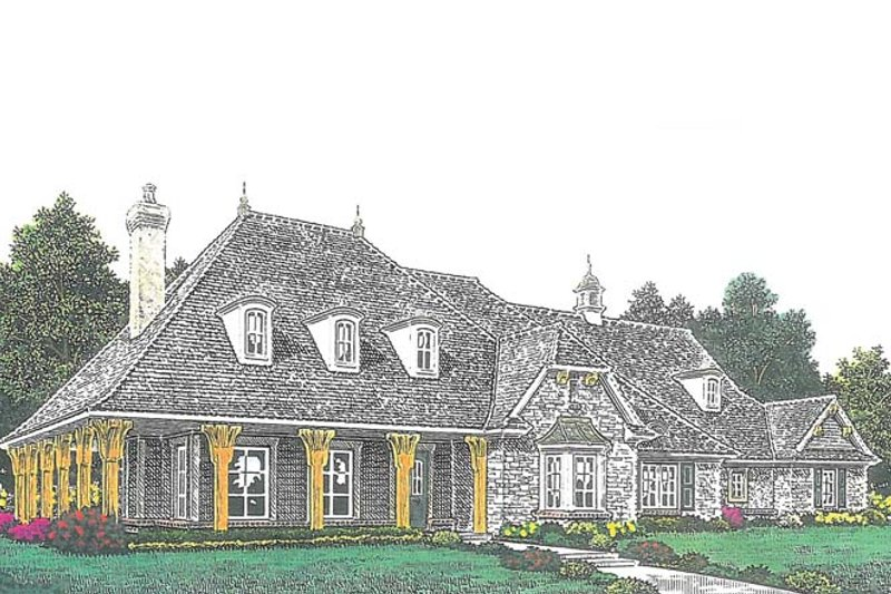 European Exterior - Front Elevation Plan #310-1278