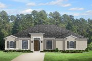 Mediterranean Style House Plan - 3 Beds 2.5 Baths 2468 Sq/Ft Plan #1058-126 Exterior - Front Elevation