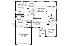 European Floor Plan - Main Floor Plan Plan #417-847