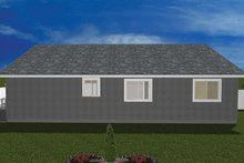 Home Plan - Ranch Exterior - Rear Elevation Plan #1060-16