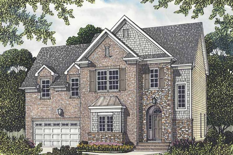 Traditional Exterior - Front Elevation Plan #453-519 - Houseplans.com