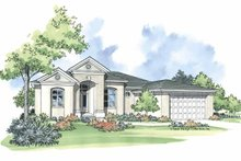 Mediterranean Exterior - Front Elevation Plan #930-374