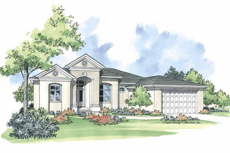 House Plan Design - Mediterranean Exterior - Front Elevation Plan #930-374