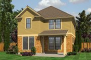 Traditional Style House Plan - 3 Beds 2.5 Baths 1592 Sq/Ft Plan #48-509 Exterior - Rear Elevation