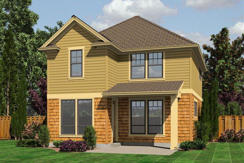 Traditional Exterior - Rear Elevation Plan #48-509 - Houseplans.com