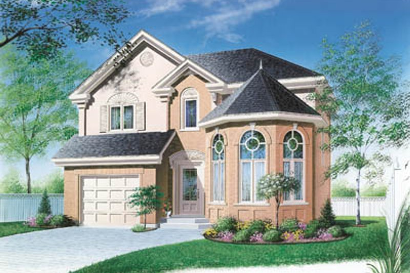 European Style House Plan - 3 Beds 2.5 Baths 1773 Sq/Ft Plan #23-277 Exterior - Front Elevation
