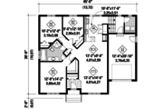 European Style House Plan - 3 Beds 1 Baths 1251 Sq/Ft Plan #25-4550 Floor Plan - Main Floor Plan