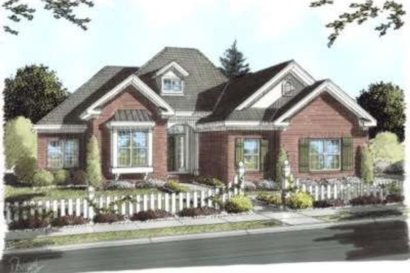 European Exterior - Front Elevation Plan #20-1677 - Houseplans.com