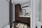 Ranch Style House Plan - 3 Beds 2 Baths 1709 Sq/Ft Plan #1060-41 Interior - Master Bathroom