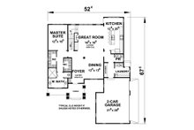 Traditional Floor Plan - Main Floor Plan Plan #20-2287