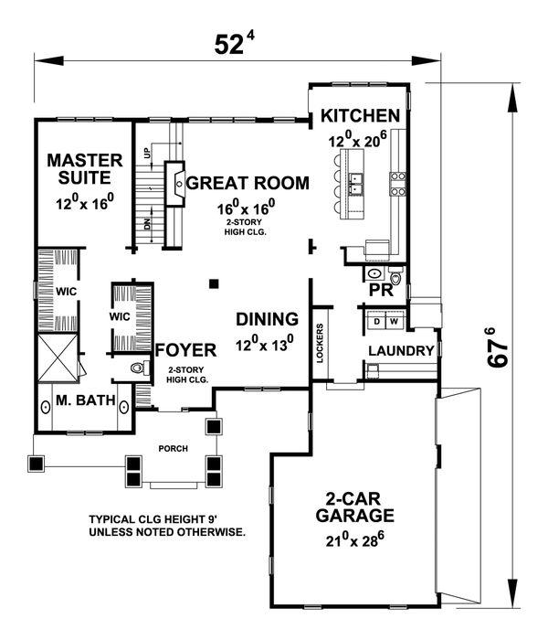 Traditional Floor Plan - Main Floor Plan Plan #20-2287