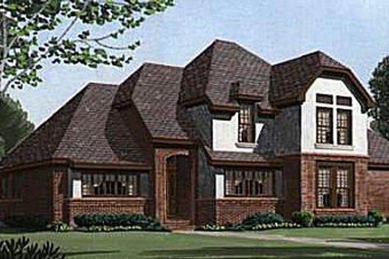 Home Plan - European Exterior - Front Elevation Plan #410-365