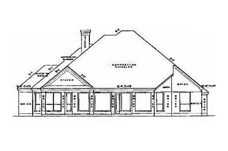European Exterior - Rear Elevation Plan #61-104 - Houseplans.com