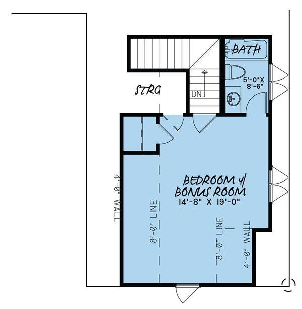 Traditional Floor Plan - Upper Floor Plan #923-32