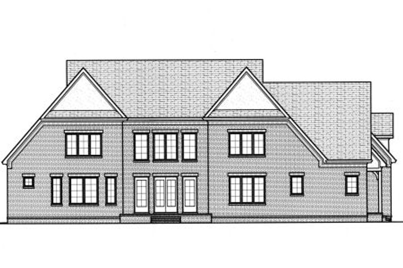 European Exterior - Rear Elevation Plan #413-834 - Houseplans.com