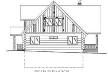 Log Exterior - Rear Elevation Plan #117-415