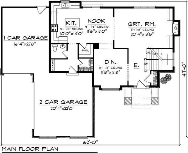 Floor Plan - Main Floor Plan Plan #70-1102