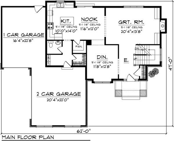 Floor Plan - Main Floor Plan Plan #70-1102