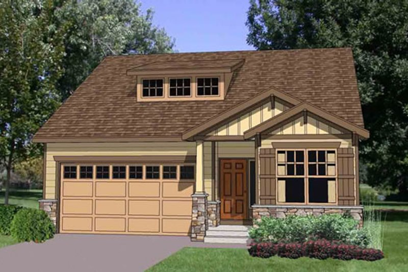 Bungalow Style House Plan - 3 Beds 2.5 Baths 1786 Sq/Ft Plan #116-269 Exterior - Front Elevation