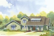 Craftsman Style House Plan - 4 Beds 3.5 Baths 2609 Sq/Ft Plan #901-67 Exterior - Front Elevation