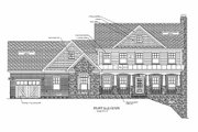 Craftsman Style House Plan - 4 Beds 4.5 Baths 2697 Sq/Ft Plan #56-587 Exterior - Rear Elevation