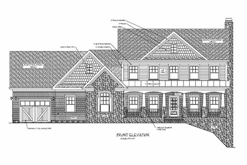 Craftsman Exterior - Rear Elevation Plan #56-587 - Houseplans.com