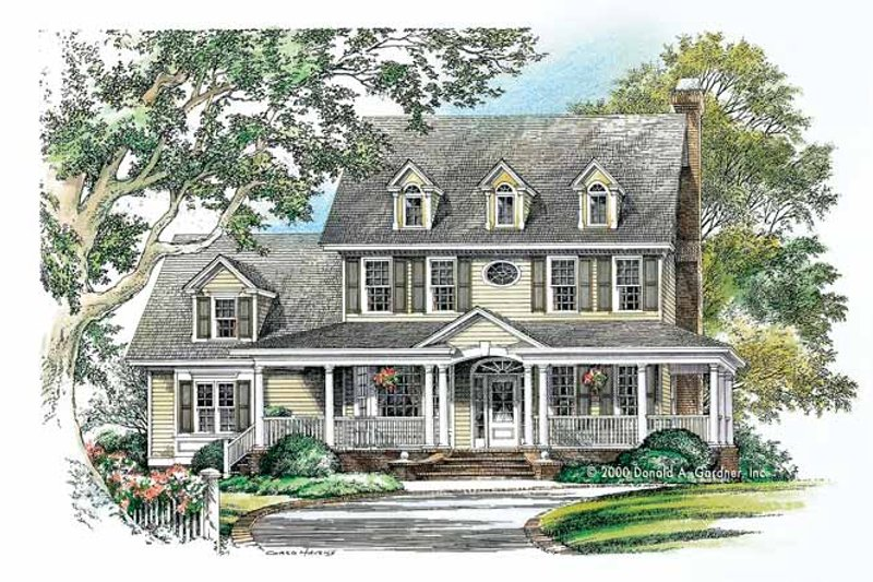Country Exterior - Front Elevation Plan #929-749