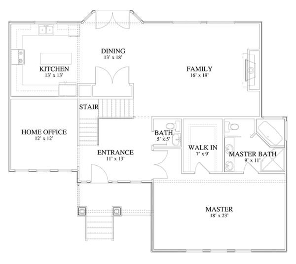 Home Plan - Traditional Floor Plan - Main Floor Plan #1060-19