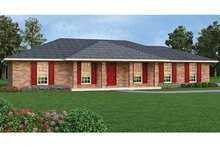 Colonial Exterior - Front Elevation Plan #45-563