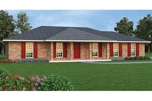 Architectural House Design - Colonial Exterior - Front Elevation Plan #45-563