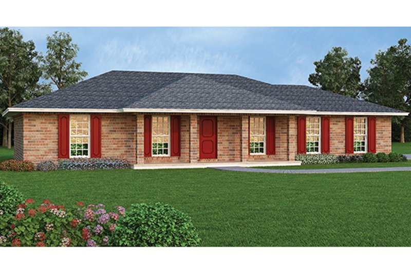 Dream House Plan - Colonial Exterior - Front Elevation Plan #45-563