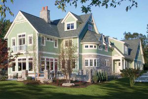Dream House Plan - Traditional Exterior - Rear Elevation Plan #928-23
