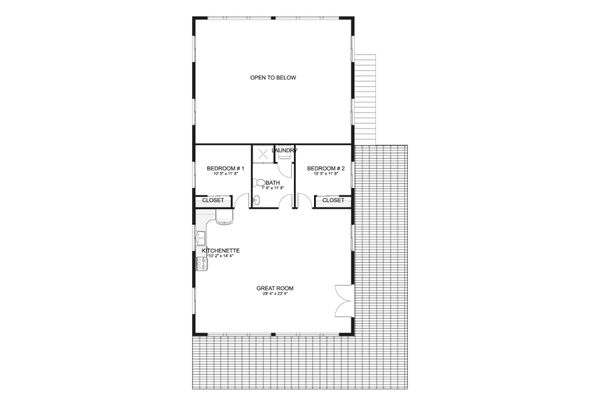 House Plan Design - Traditional Floor Plan - Upper Floor Plan #1060-95
