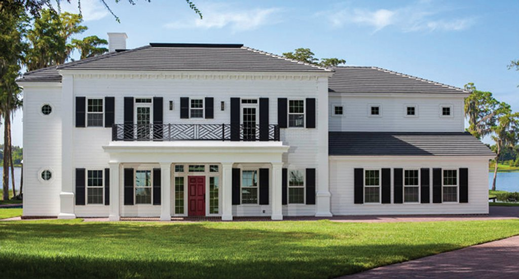 Classical Exterior Front Elevation Plan 1058 83