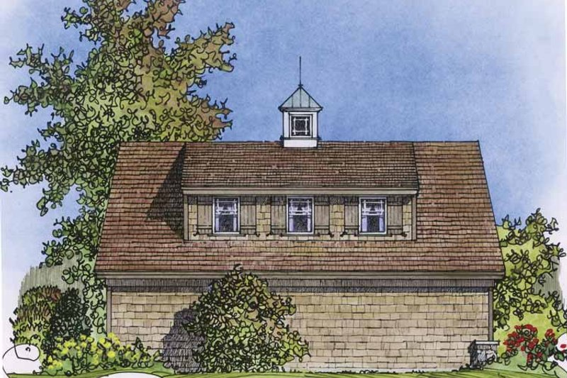 Country Exterior - Rear Elevation Plan #1016-76 - Houseplans.com
