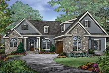 Craftsman Exterior - Front Elevation Plan #929-981