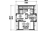 Country Style House Plan - 1 Beds 1 Baths 610 Sq/Ft Plan #25-4750 Floor Plan - Upper Floor Plan