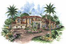 Mediterranean Exterior - Front Elevation Plan #1017-74