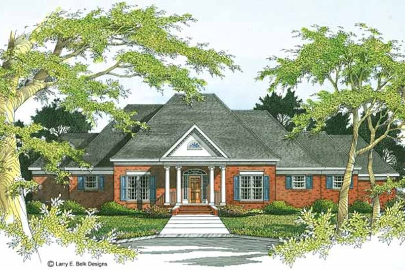 Colonial Exterior - Front Elevation Plan #952-13