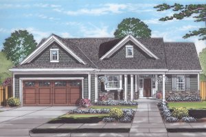 Country Exterior - Front Elevation Plan #46-892