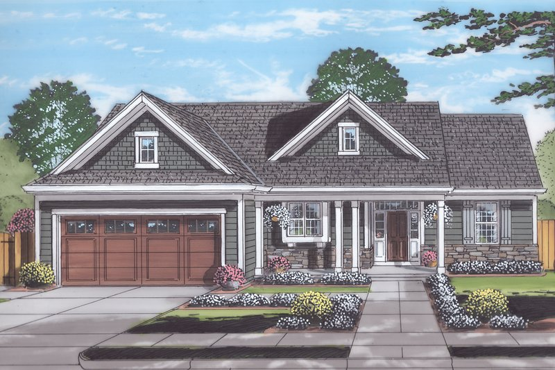 Home Plan - Country Exterior - Front Elevation Plan #46-892