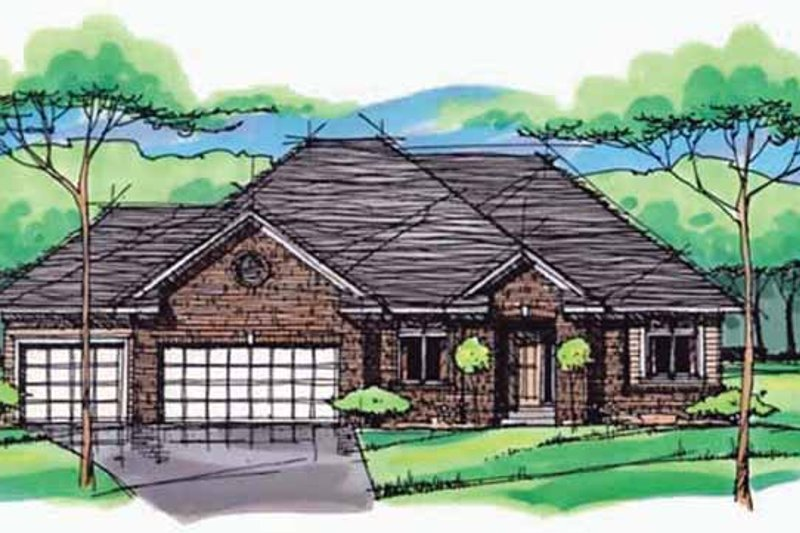 House Plan Design - European Exterior - Front Elevation Plan #51-973