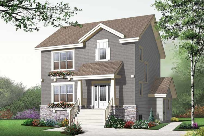 Traditional Exterior - Front Elevation Plan #23-2507 - Houseplans.com