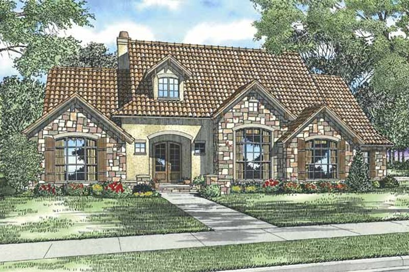 House Plan Design - European Exterior - Front Elevation Plan #17-2930